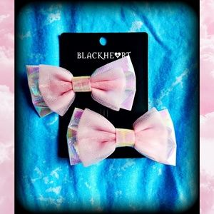 Blackheart Pink Hair Bow Set